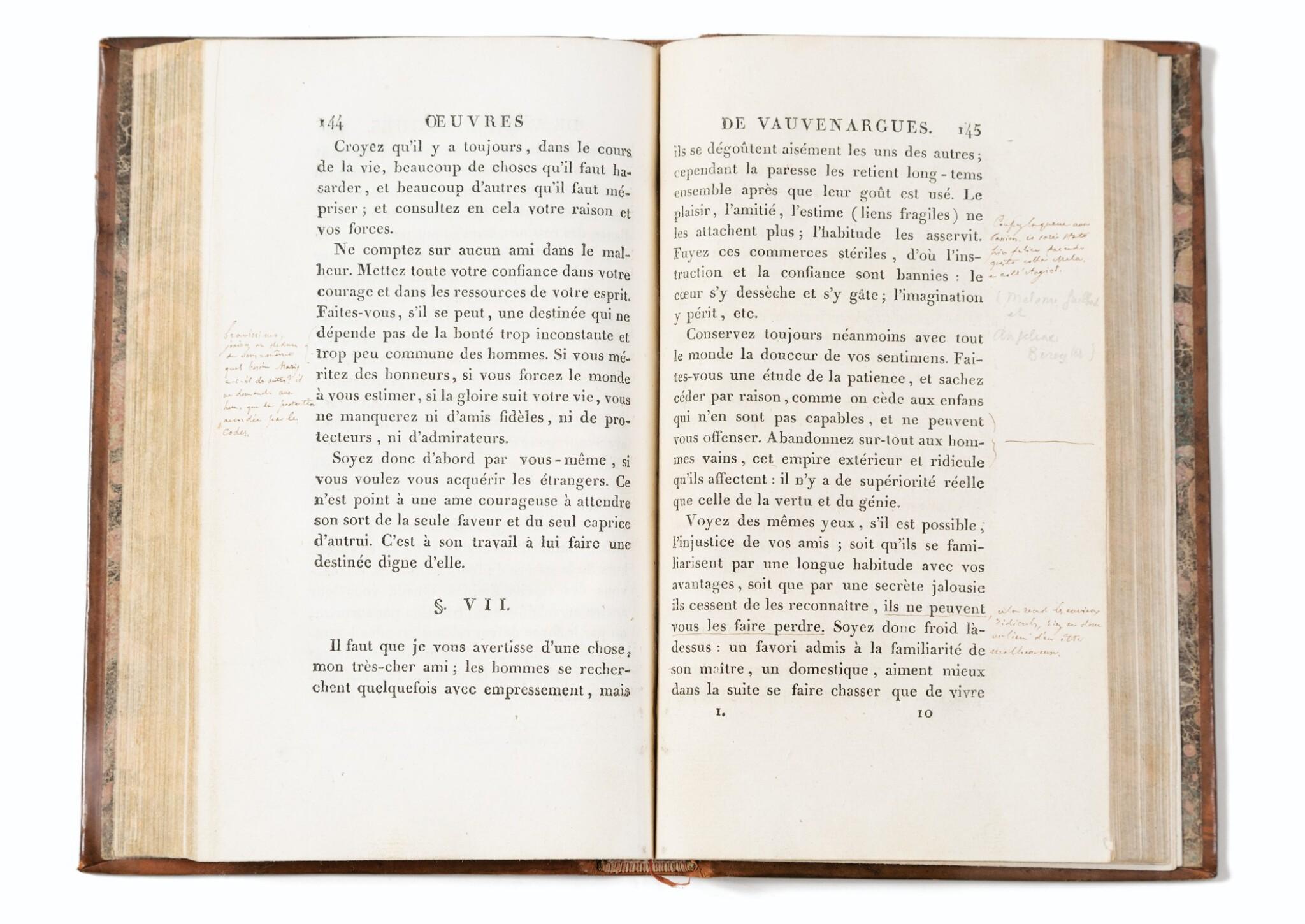 View full screen - View 1 of Lot 167. Oeuvres. 1806 . Rel ép. Précieux exemplaire annoté (plus de 115 annotations)..