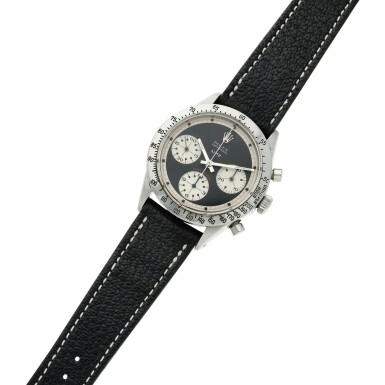 View 6. Thumbnail of Lot 280. Reference 6239 'Paul Newman' Daytona  Retailed by Linz Brothers: A stainless steel chronograph wristwatch, Circa 1968 .