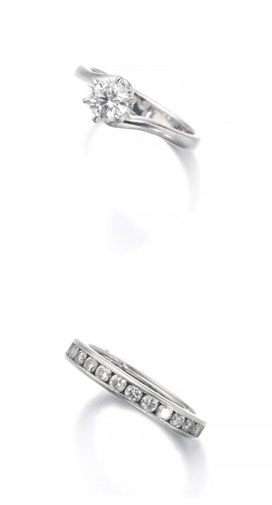 DIAMOND ETERNITY RING | TIFFANY & CO. AND A DIAMOND RING