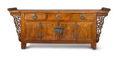View 1. Thumbnail of Lot 1006. A 'HUANGHUALI'-VENEERED AND MIXED-WOOD THREE DRAWER COFFER, 20TH CENTURY.