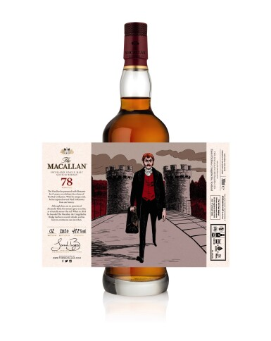 View 10. Thumbnail of Lot 1. The Macallan Red Collection with Exclusive Labels Illustrated by Javi Aznarez (6 bts 70cl).