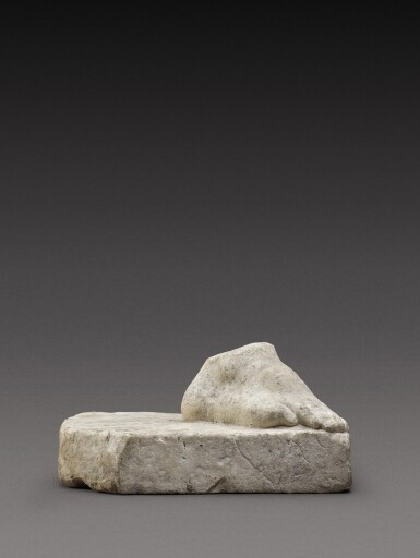View 2. Thumbnail of Lot 106. A Roman Marble Right Foot, circa 2nd Century A.D..