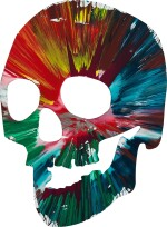 Untitled (Skull Spin Painting) |  無題(骷髏旋轉畫)
