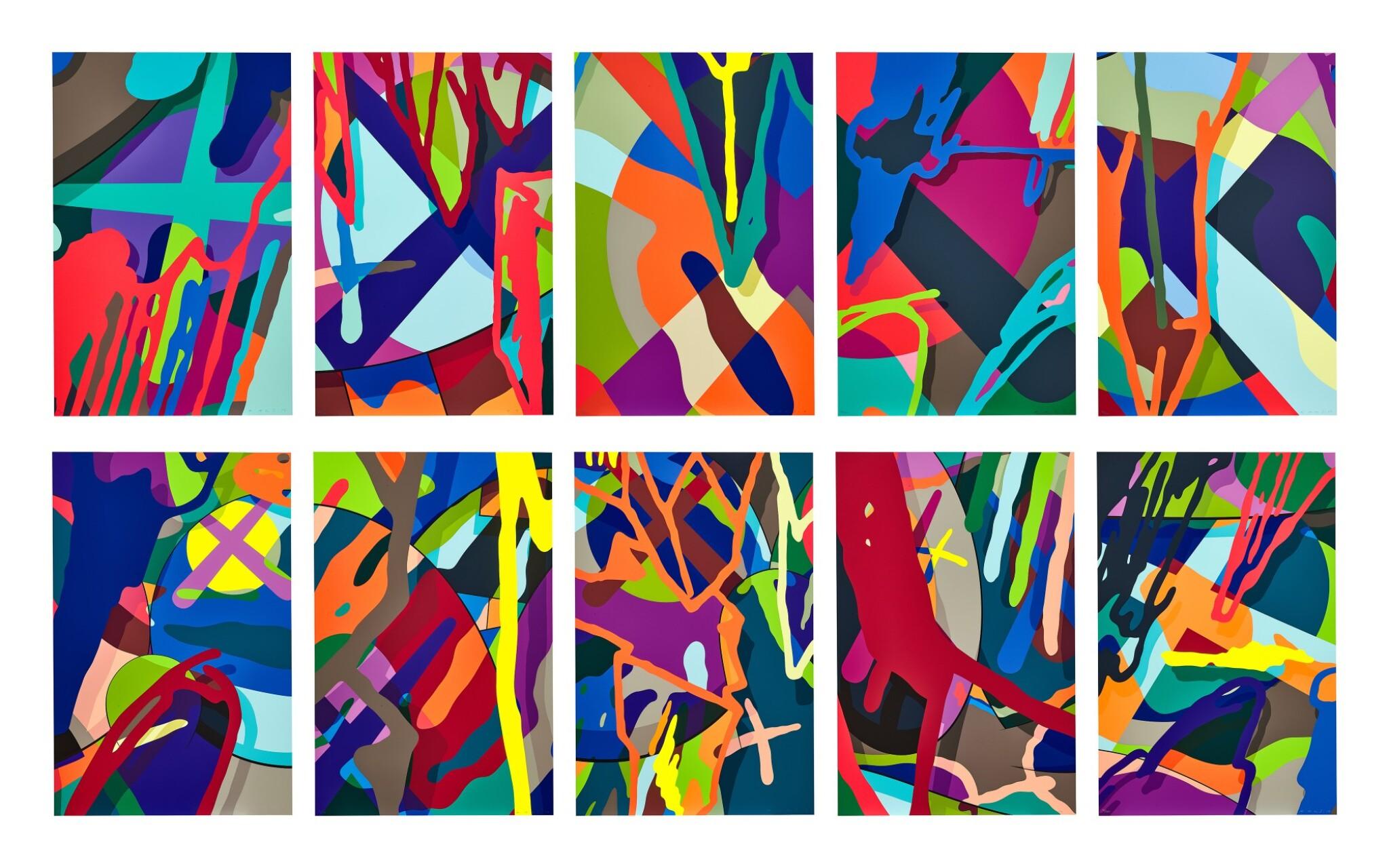 View full screen - View 1 of Lot 114. KAWS | Tension (Portfolio of 10 Prints) 張力(一套十張).