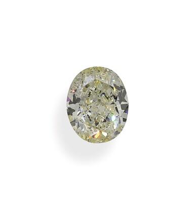 A 3.95 Carat Oval-Shaped Diamond, Y-Z Color, VS1 Clarity