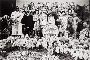 View 1. Thumbnail of Lot 45. MICHAEL COOPER | Sgt Pepper's Lonely Hearts Club Band, 1967, silver print, numbered 1/25.