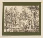 HENDRIK GERRIT TEN CATE   River landscape with trees