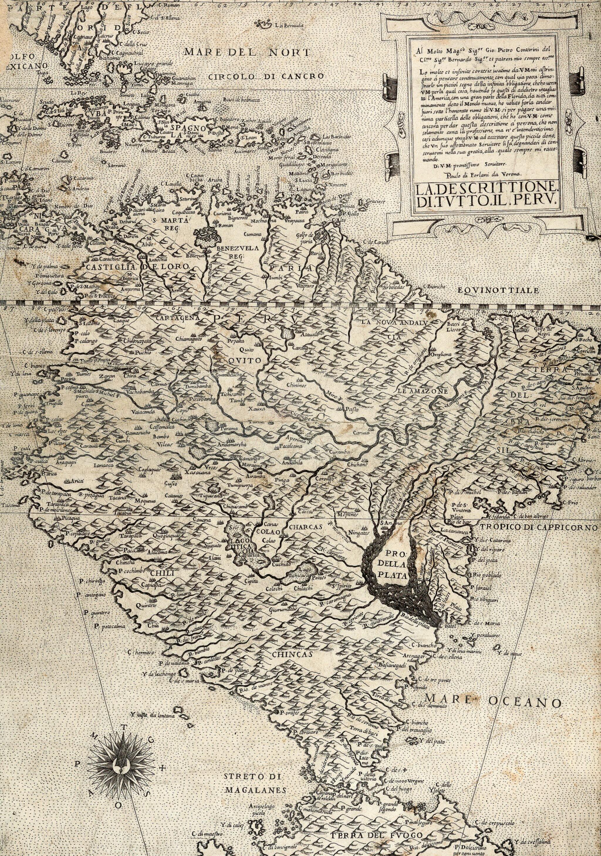 View full screen - View 1 of Lot 253. Forlani. La descrittione di tutto il Peru. [Venice, c.1562].