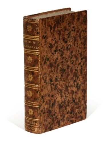 View 3. Thumbnail of Lot 178. Martialis, Epigrammata, Venice, Aldus, 1501, mottled calf.