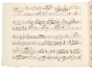 W. A. Mozart. Eighteenth-century scribal manuscript of the Adagio in B minor for piano, K.540, late C18th-early C19th