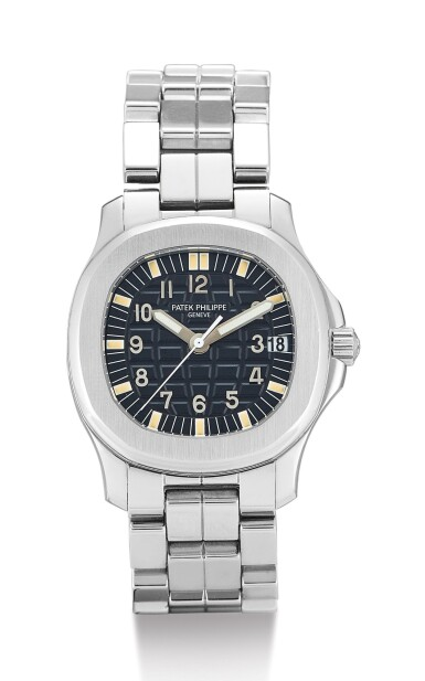 View 1. Thumbnail of Lot 25. PATEK PHILIPPE   AQUANAUT, REFERENCE 5066, A STAINLESS STEEL WRISTWATCH WITH DATE AND BRACELET, CIRCA 2000        .