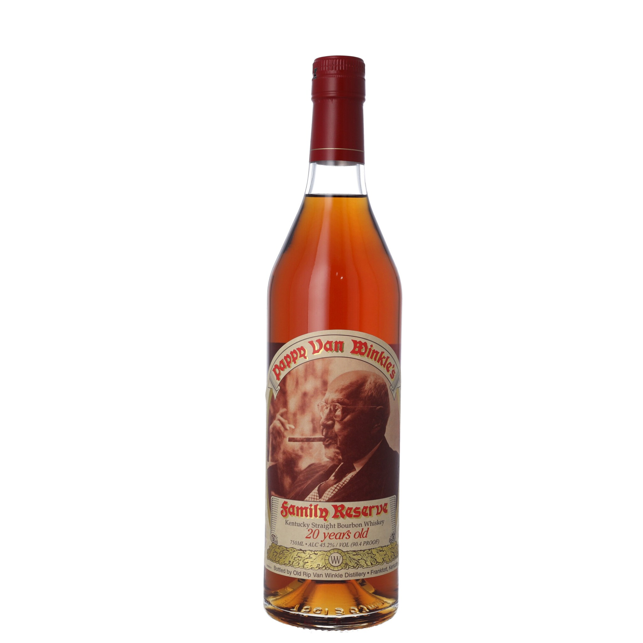 View full screen - View 1 of Lot 173. Pappy Van Winkle's 20 Year Old Family Reserve 90.4 proof NV (1 BT75).