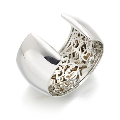 View 3. Thumbnail of Lot 24. Diamond cuff bracelet, 'More Passion'.