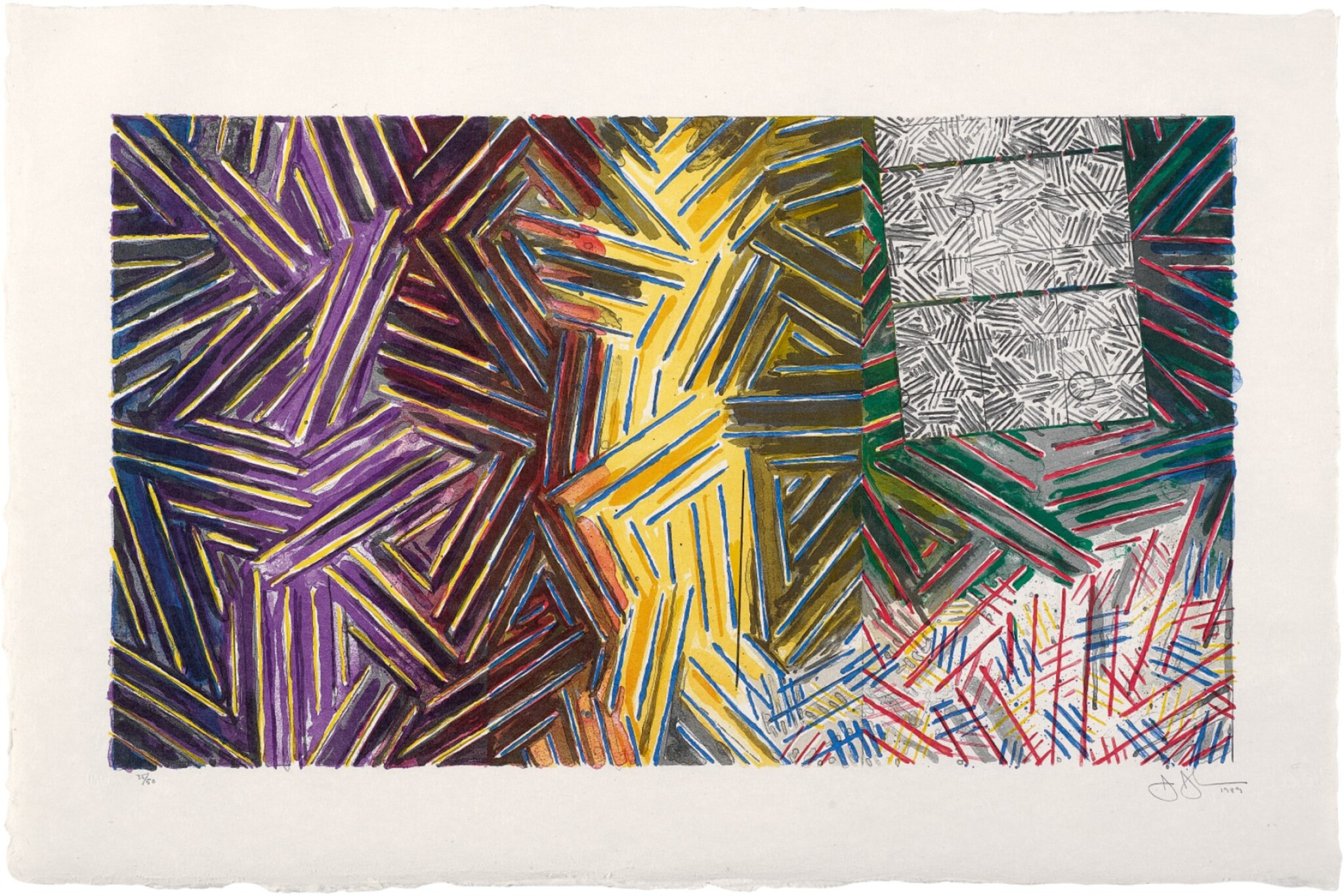 View 1 of Lot 209. JASPER JOHNS | BETWEEN THE CLOCK AND THE BED (ULAE 246).