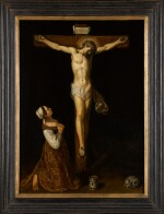 JAN SYMONSZ. PYNAS | Mary Magdalene kneeling at the foot of the cross