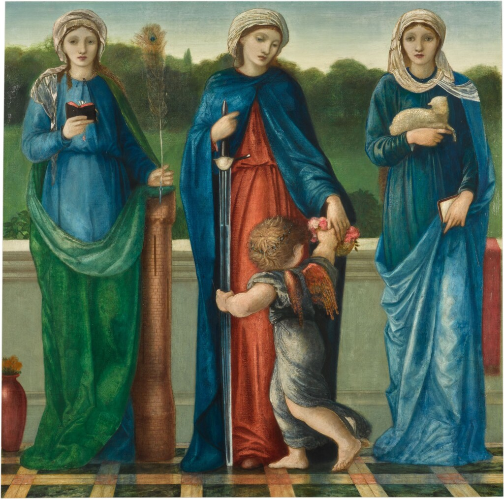 SIR EDWARD COLEY BURNE-JONES, BT., A.R.A., R.W.S. | ST BARBARA, ST DOROTHY AND ST AGNES