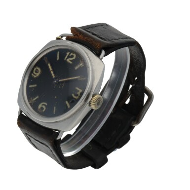 View 2. Thumbnail of Lot 189. RADIOMIR, REF 3646 STAINLESS STEEL MILITARY DIVERS' WATCH CIRCA 1940.
