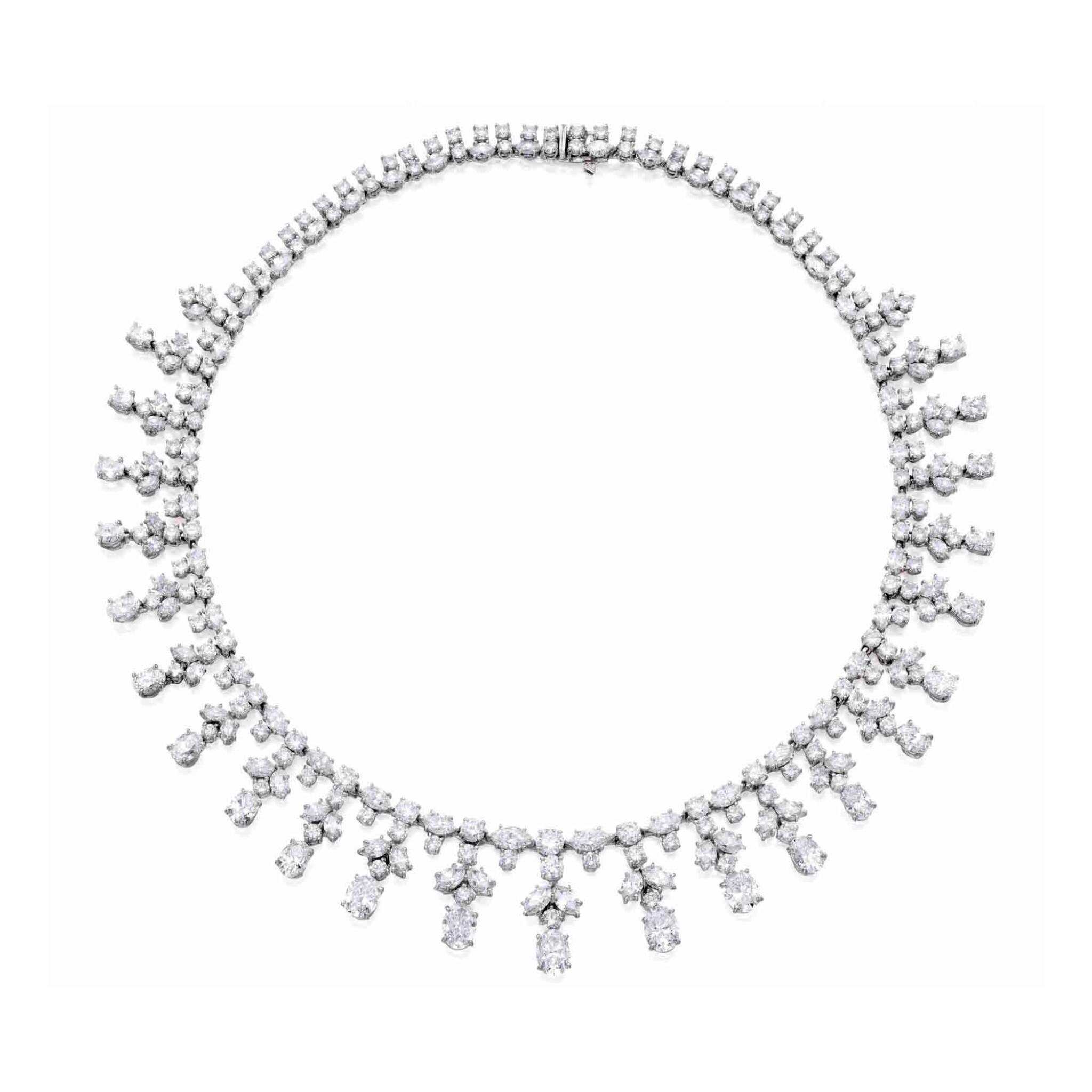 View full screen - View 1 of Lot 11. Harry Winston [海瑞溫斯頓] | Diamond Necklace [鑽石項鏈].