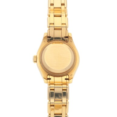View 4. Thumbnail of Lot 194. PEARLMASTER, REF 69318 YELLOW GOLD AND DIAMOND-SET WRISTWATCH WIHT DATE AND BRACELET CIRCA 1995.