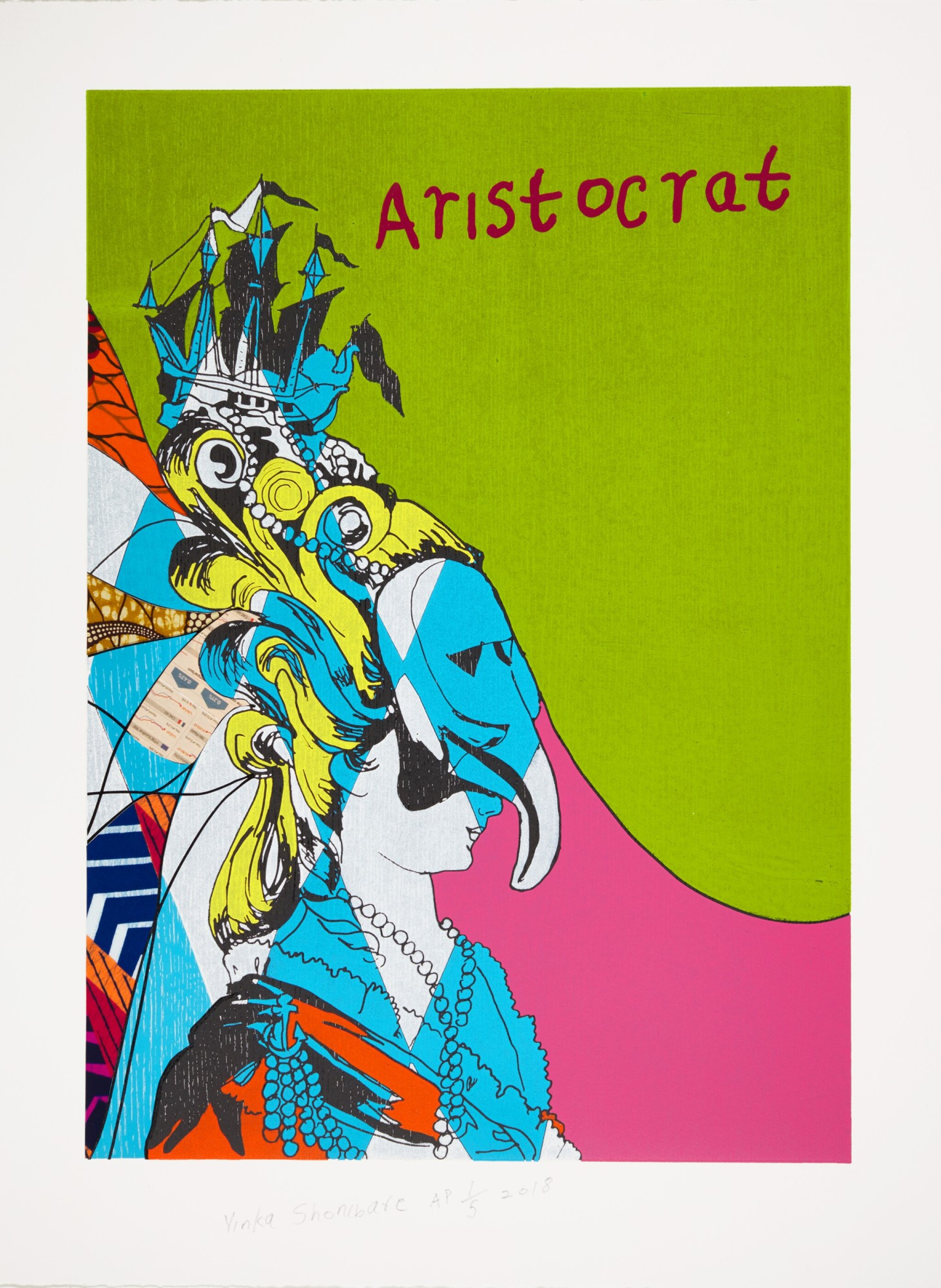 View full screen - View 1 of Lot 886. YINKA SHONIBARE | UNSTRUCTURED ICONS - ARISTOCRAT I.