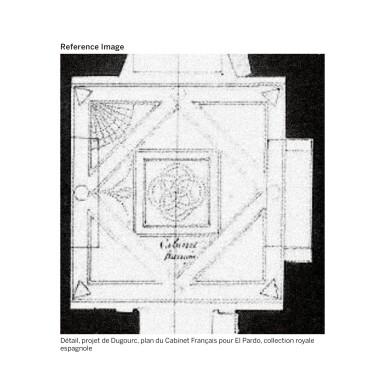 View 15. Thumbnail of Lot 20. A PAIR OF WHITE AND BLEU TURQUIN MARBLE JARDINIÈRES, WITH MERCURY GILT-BRONZE MOUNTS, LATE LOUIS XVI, CIRCA 1790-1800, THE MOUNTS BY FORESTIER PROBABLY AFTER A DESIGN BY JEAN-DÉMOSTHÈNE DUGOURC, PURCHASED IN PARIS AND DELIVERED TO THE KING OF SPAIN, CHARLES IV IN 1802   PAIRE DE CAISSES JARDINIÈRES EN MARBRES BLANC ET BLEU TURQUIN À MONTURE DE BRONZE DORÉ AU MERCURE DE LA FIN DE L'ÉPOQUE LOUIS XVI, VERS 1790-1800, LES BRONZES PAR FORESTIER PROBABLEMENT D'APRÈS UN DESSIN DE JEAN-DÉMOSTHÈNE DUGOURC, ACHETÉE À PARIS ET LIVRÉE POUR LE ROI D'ESPAGNE CHARLES IV EN 1802.