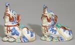 A PAIR OF FINE AND RARE KAKIEMON ELEPHANTS, EDO PERIOD, LATE 17TH CENTURY
