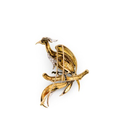 Bellini, Enamel and diamond brooch [Broche émail et diamants]