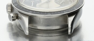 View 9. Thumbnail of Lot 14. Reference 6241 'Paul Newman' Daytona A stainless steel chronograph wristwatch, Circa 1968.