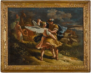 View 3. Thumbnail of Lot 9. FRANCESCO FONTEBASSO  |  JACOB WRESTLING WITH THE ANGEL.