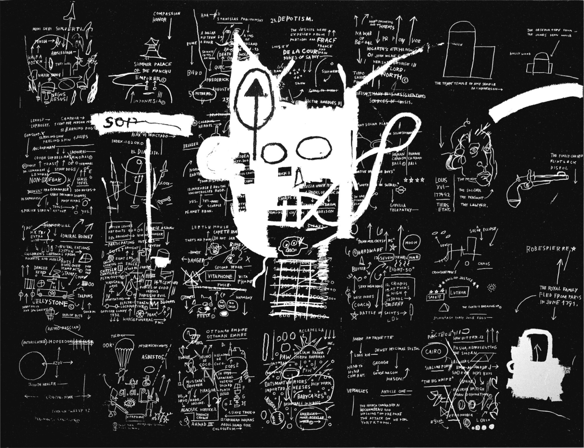 View full screen - View 1 of Lot 119. JEAN-MICHEL BASQUIAT | UNTITLED .