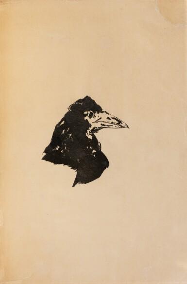 View 3. Thumbnail of Lot 136. Les Poèmes d'Edgar Poe. 1888. 1/50 sur Japon, exceptionnel envoi à Pierre Louÿs..