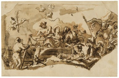 View 1. Thumbnail of Lot 263. The Martyrdom of St. Giustina.