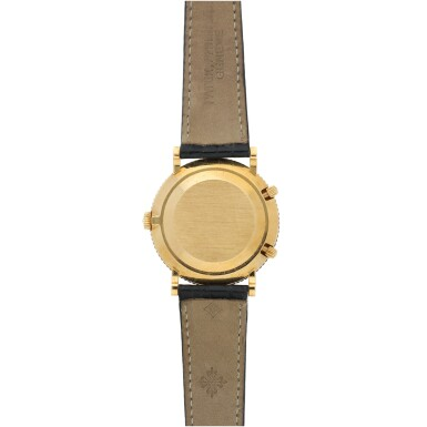 View 5. Thumbnail of Lot 38. REFERENCE 5034 TRAVEL TIME A YELLOW GOLD DUAL TIME WRISTWATCH WITH 24 HOUR INDICATION, MADE IN 1997.