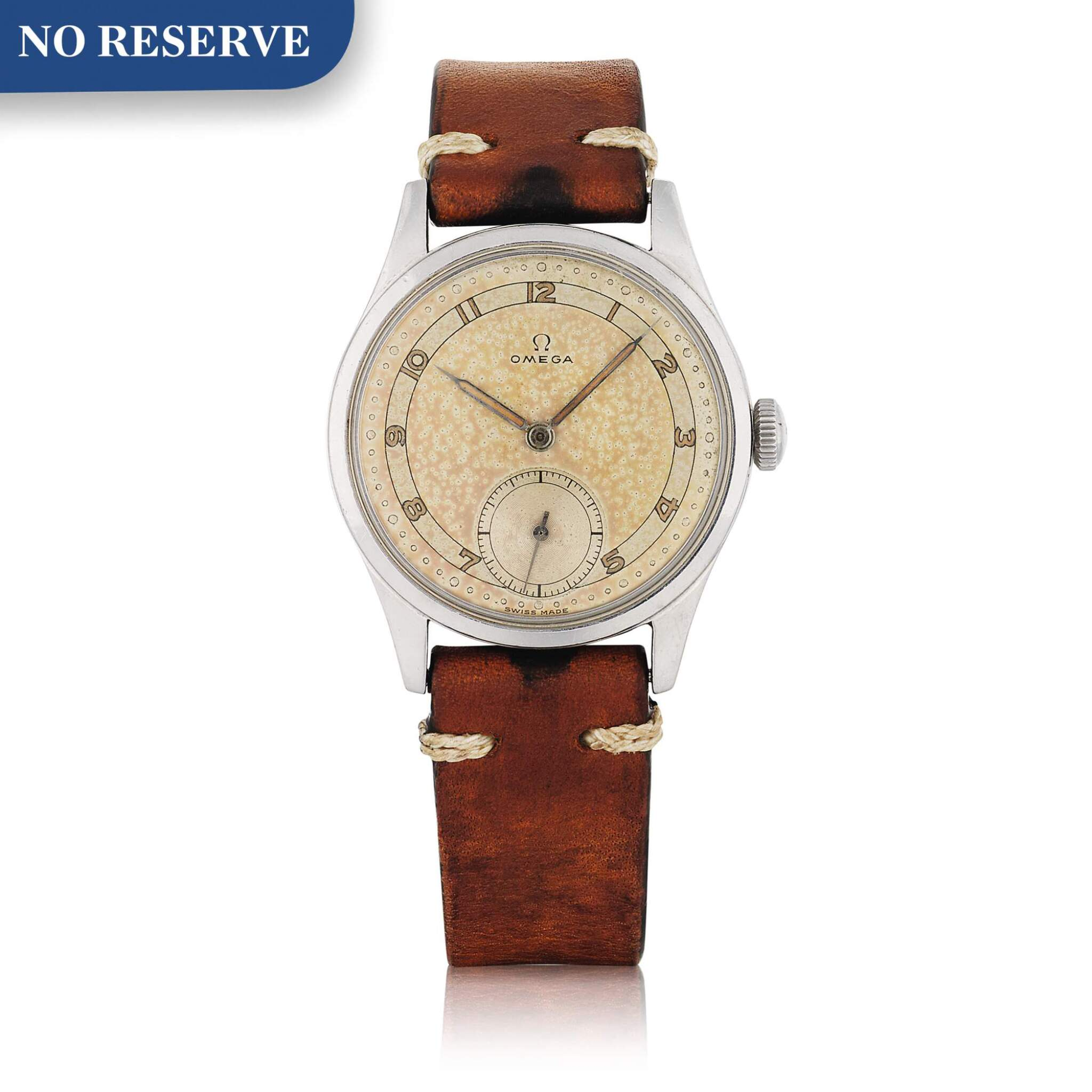 View full screen - View 1 of Lot 430. REF 2383-6 STAINLESS STEEL WRISTWATCH WITH TWO-TONE DIAL CIRCA 1947.