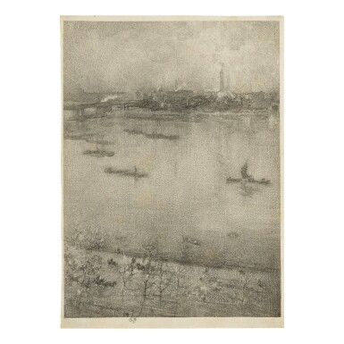 View 1. Thumbnail of Lot 74. JAMES ABBOTT MCNEILL WHISTLER | THE THAMES (SPINK/STRATIS/TEDESCHI 161).