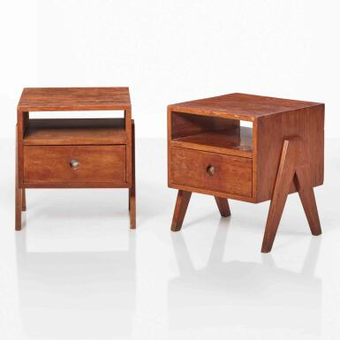View 1. Thumbnail of Lot 87. Pair of Bedside Tables, Model No. PJ-R-09-A.