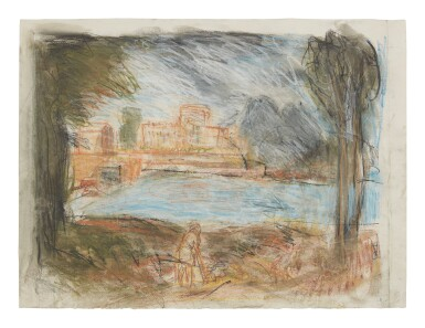 View 1. Thumbnail of Lot 413. LEON KOSSOFF   LANDSCAPE WITH CALM NO. 2.