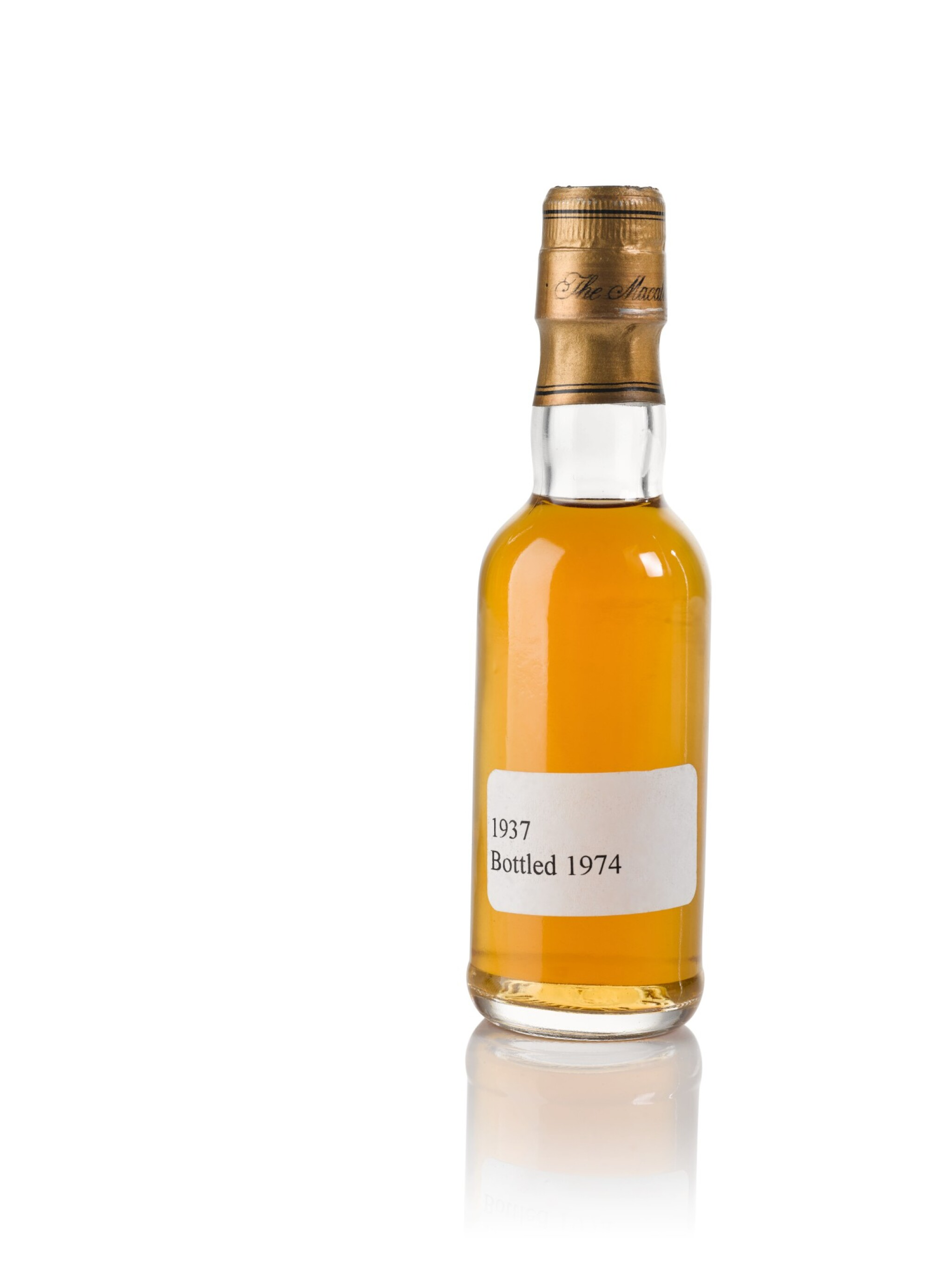 View full screen - View 1 of Lot 42. The Macallan Fine & Rare 37 Year Old Trade Sample 43.0 abv 1937 .
