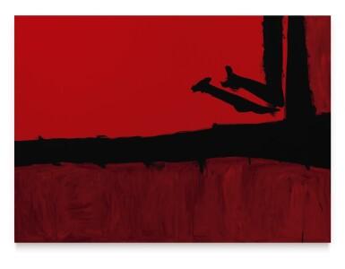 View 1. Thumbnail of Lot 1119. Robert Motherwell 羅伯特・馬瑟韋爾 | Red, Cut By Black 被黑色分割的紅.