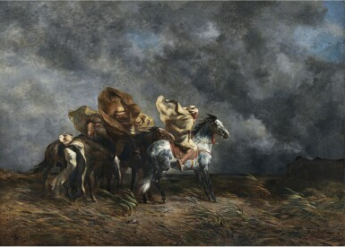 EUGÈNE FROMENTIN | WINDSTORM ON THE ESPARTO PLAINS OF THE SAHARA