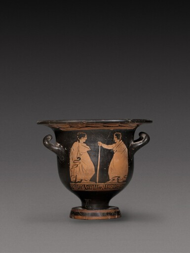 View 2. Thumbnail of Lot 59. An Apulian Red-figured Bell Krater, circa 350-340 B.C..