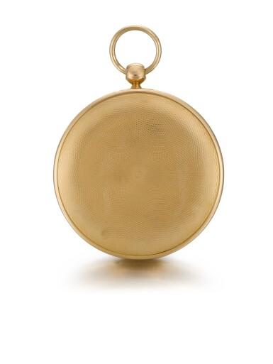 BREGUET   [寶璣]  | A GOLD OPEN-FACED RUBY CYLINDER WATCH  NO. 674, 'MONTRE SIMPLE NOUVEAU CALIBRE' 30 AUGUST 1809   [黃金及紅寶石懷錶備工字輪擒縱機芯,編號674,1809年8月30日製]