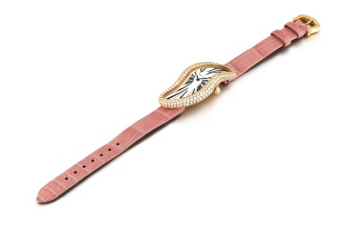 View 4. Thumbnail of Lot 2036. Cartier | Baignoire, Reference 3248, A pink gold and diamond-set wristwatch, Circa 2015 | 卡地亞 | Baignoire 型號3248 粉紅金鑲鑽石腕錶,約2015年製.