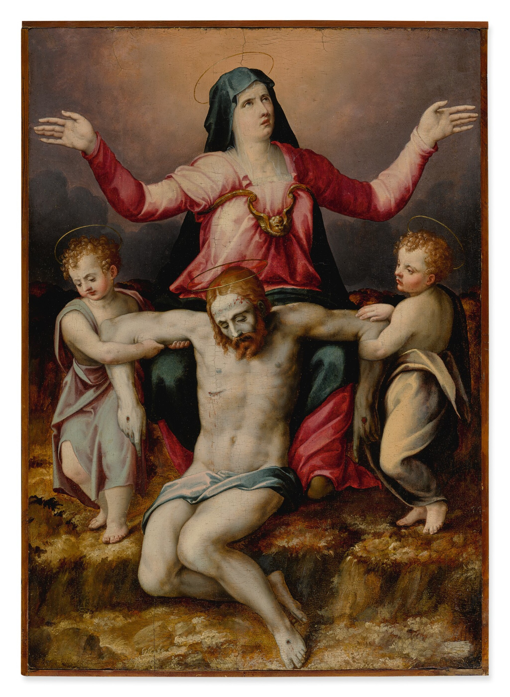 MICHELE TOSINI, CALLED MICHELE DI RIDOLFO DEL GHIRLANDAIO | PIETÀ WITH TWO ANGELS