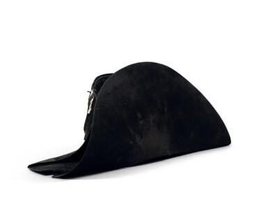 """View 6. Thumbnail of Lot 33. The legendary """"à la française"""" hat of Emperor Napoleon I, worn during his campaign in Pologne (1807)   Légendaire chapeau de l'empereur Napoléon Ier, de forme traditionnelle dite à la française, porté durant la campagne de Pologne (1807).."""
