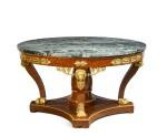 An Italian gilt-bronze mounted thuyawood centre table, Milan, circa 1820, the mounts attributed to Luigi and Antonio Manfredini