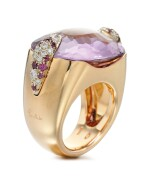 AMETHYST, PINK SAPPHIRE AND DIAMOND RING, POMELLATO