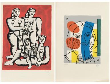 View 1. Thumbnail of Lot 83. (i) Les trois sœurs (ii) Portrait de femme      .