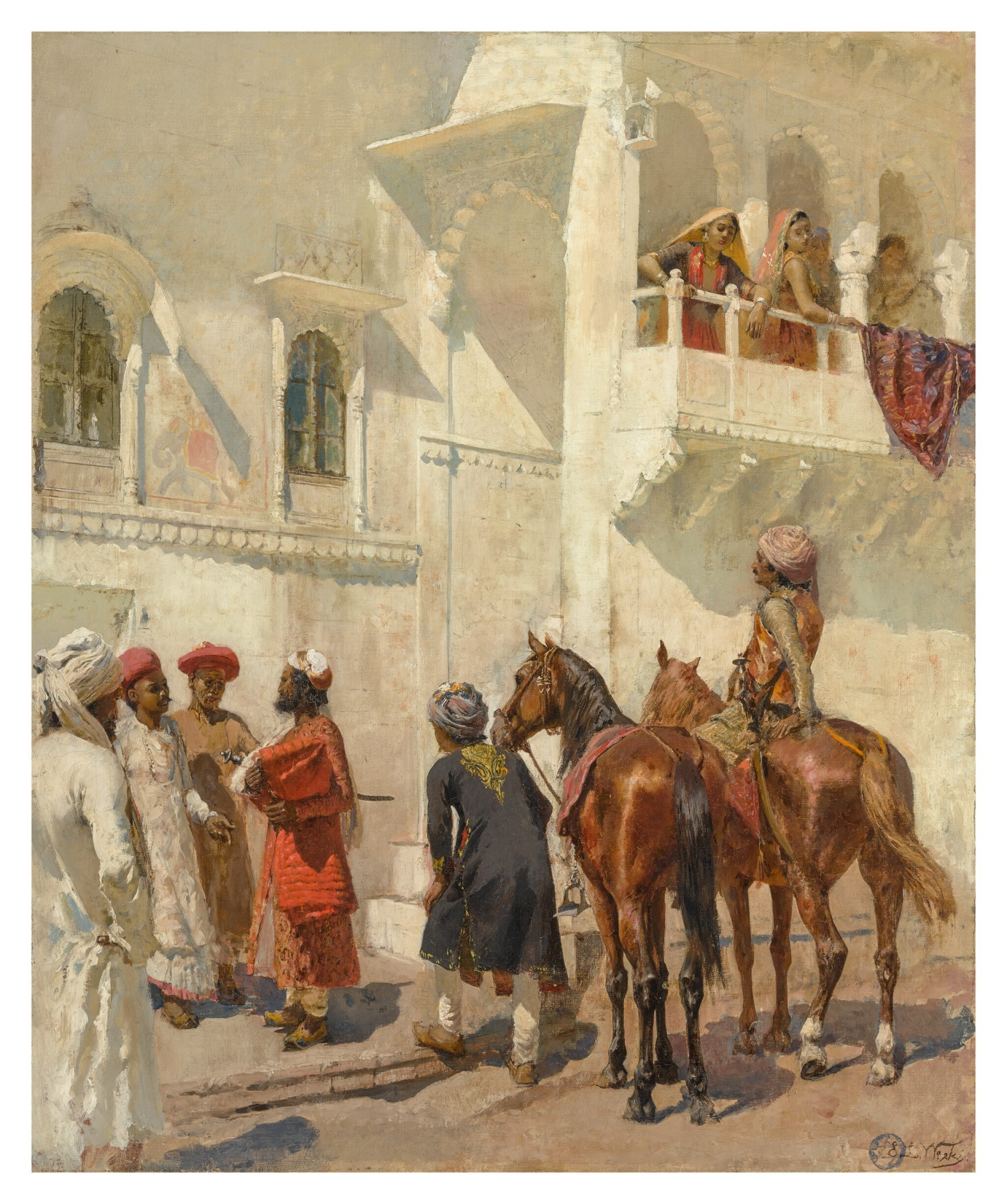 View full screen - View 1 of Lot 26.  EDWIN LORD WEEKS | BEFORE THE HUNT.