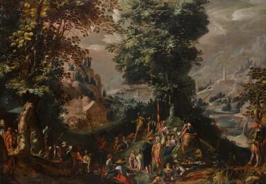View 1. Thumbnail of Lot 146. Saint John the Baptist preaching to the Multitude.